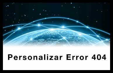 Personalizar un Error 404